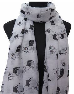 Boston Terrier Wrap Scarf