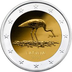 2 Euro 2015 Stork Commemorative Latvia