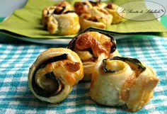 Rotolini di pasta sfoglia con verdure - #pastasfoglia #melanzane #zucchine