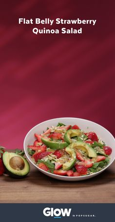 Banish belly fat with this strawberry avocado quinoa salad.