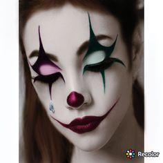 Halloween Makeup Clown, Clown Makeup, Halloween Looks, Makeup Art, Eye Makeup, Makeup Ideas, Jester Halloween, Cosplay Makeup, Costume Makeup