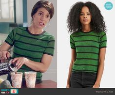 Marisol's green striped top on Devious Maids Ana Ortiz, Devious Maids, Other Outfits, Hey Girl, Green Stripes, Striped Knit, Topshop, Character Creation, T Shirts For Women