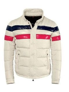 High fashion Moncler Men Menuire White red Jacket Just $259 CLICK IT!!