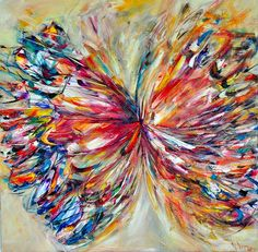 ARTFINDER: The Brilliance of Colour by Victoria  Horkan - A mix palette of beautiful uplifting colours. Applied thickly onto a canvas with pure undiluted oil paints. This work has immense texture and colours galore....