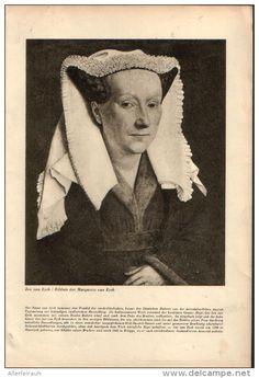 Bildnis er Margarethe von Eyck - Druck, entnommen aus Velhagen und Klasings…