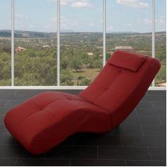 Relaxliege Livorno II, Recamiere Chaiselongue ~ Kunstleder, rot