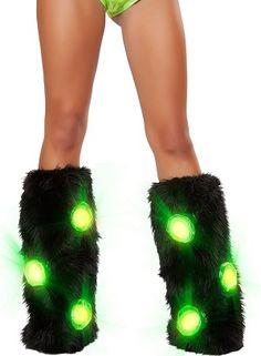 Light-Up Faux Fur Leg Warmers