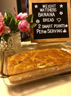 Weight Watchers Banana Bread Recipe just 2 points per serving Looking for a banana bread recipe that fits into your Weight Watchers plan? Try this Weight Watchers Banana Bread Recipe that is just 2 points per serving Weight Watcher Desserts, Weight Watcher Banana Bread, Weight Watchers Plan, Weight Watchers Breakfast, Weight Watcher Cookies, Weigh Watchers, Weight Watchers Banana Cake Recipe, Weight Watchers Banana Muffins Recipe, Weight Watchers Motivation