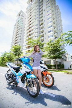 Scooter Girl, Asian Woman, Tutu, Thailand, Motorcycle, Cars, Autos, Tutus, Motorcycles