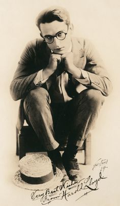 Image result for harold lloyd seated