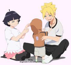 Where is that rumoured third Naruhina child with the byakugan tho…In my dreams TT^TT Naruto Gif, Naruto Fan Art, Naruto Comic, Naruto And Hinata, Naruto Cute, Naruto Shippuden Anime, Naruhina, Hinata Hyuga, Himawari Boruto