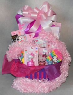 valentine day gift idea for teenage girls | hello kitty gift basket for girls previous in children s teens gifts ...