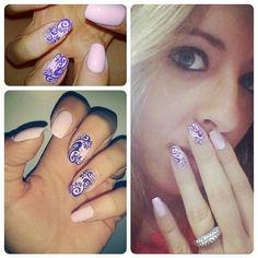 Purple squiggles