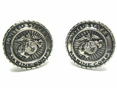 Silver US Marine Corps Cufflinks CuffCrazy. $29.99. Part of the USA Collection - Limited Production Run. Money Back if not 100% Satisfied. Free Black Carrying Bag Included