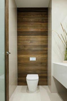 Bathroom Entry Door Ideas Awesome Ensuite Wooden Look Tiles Smoky Glass Entry Door Bathroom Design Small, Bathroom Interior Design, Modern Bathroom, Toilette Design, Beautiful Small Bathrooms, Amazing Bathrooms, Ideas Baños, Door Ideas, Small Toilet Room