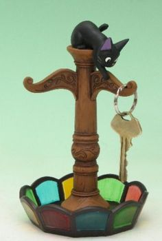 Studio Ghibli Kiki's Delivery Service Jiji key hanger stand from Japan New | eBay
