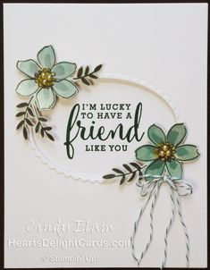 Heart's Delight Cards, Love What You Do, Share What You Love Suite, Friendship, Stampin' Up!