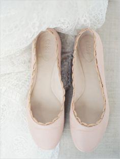 soft pink chloe wedding flats http://www.weddingchicks.com/2013/11/11/organic-wedding-ideas/