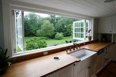 bi-fold kitchen window.