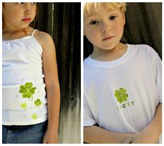 Do you celebrate St. Patrick's Day? We aren't Irish, but we love to celebrate anyway. So the kids and I made some fun shirts that they can wear this St. Patrick's Day. If you h…