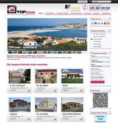 """TOPcasas Imobiliária - http://www.topcasas.co.uk/ projecto em CMS """"sistema de gestão de conteúdos"""" desenvolvido pela Navega Bem Web Design - Madeira"""