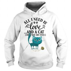 I Love All I need is Love and a Cat Shirts & Tees
