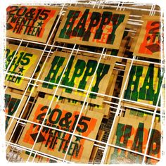 New Year Cards - Letterpress - Mary Mortimer 2015