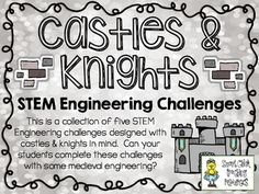 STEM Engineering Challenges Pack ~ Castles & Knights ~ Set  $