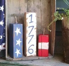 1776 4x4  wooden firecrackers