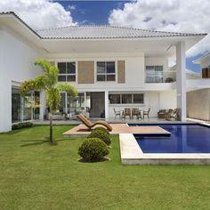 Casas com piscina fotos projetos e dicas maisons de for Fachadas de casas modernas trackid sp 006