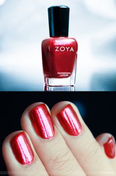 Zoya Nail Polish in Sarah--glad I picked up this shade and loved it on me before realizing it's named after me :)