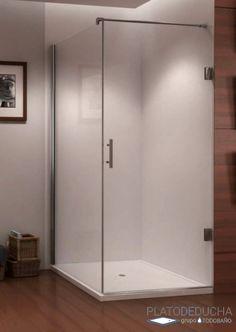 Mampara de ducha Seila. Con Puerta Abatible + Fijo. Cierre magnético al vértice y Bisagras en Acero Inoxidable