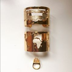 The Ivory Diary-World Cuff, NYC Ring and the Manhattan Cuff http://www.artelier.mx/product-category/collections/city/