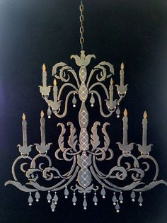 Are your walls screaming for some stenciled art? Check out this beautiful canvas created by Pure Earth Paint that's been embellished with a lil' bling! Hit 'like' if you're feeling inspired!  Get your stencil here: http://www.cuttingedgestencils.com/chandelier-stencil-decal.html  #cuttingedgestencils #stencils #stenciling #wallart