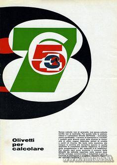 Olivetti per calcolare, 1962.