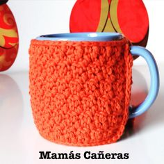 Funda para taza Tapestry, Mugs, Tableware, Cotton, Weaving, The Creation, Lets Go, Cases, Crocheting