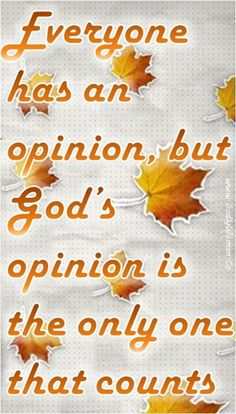 So very true! So no matter what others opinion is of another, it is God's opinion that matters.