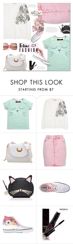 """""""Feline Fashion (2)"""" by polly301 ❤ liked on Polyvore featuring STELLA McCARTNEY, Topshop, Kate Spade, Converse and catstyle"""