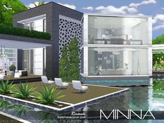 Minna house by Rirann at TSR via Sims 4 Updates