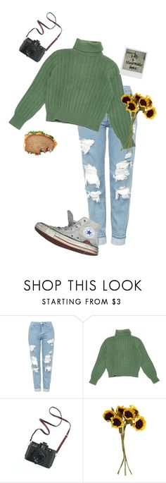 """""""I'm always lonely."""" by kitten-tears ❤ liked on Polyvore featuring Topshop, Yves Saint Laurent, Converse, Polaroid, Madewell and John Lewis"""