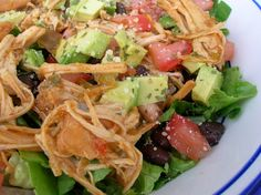 Slow Cooker Bajio Chicken Salad from SixSistersStuff.com