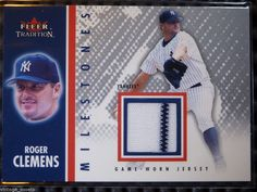 2003 Fleer Tradition ROGER CLEMENS Milestones Game Worn Jersey Patch Card MS-RC #NewYorkYankees http://www.ebay.com/itm/2003-Fleer-Tradition-ROGER-CLEMENS-Milestones-Game-Worn-Jersey-Patch-Card-MS-RC-/281454212974?ssPageName=STRK:MESE:IT