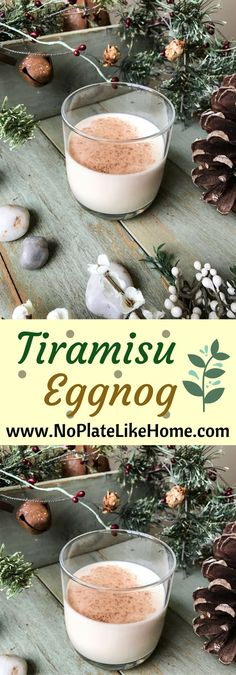 Tiramisu Eggnog is an easy and delicious cocktail recipe perfect for Thanksgiving and Christmas parties. It has eggnog with alcohol- white rum and coffee liquor with chocolate syrup