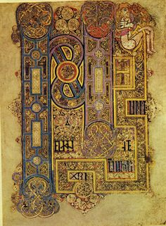 Book of Kells  We have this book in our library.  It is amazing!  Incredibly beautiful and the detail of the art is mind blowing!