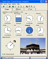 Rogai Info software - Details for Salaat Time
