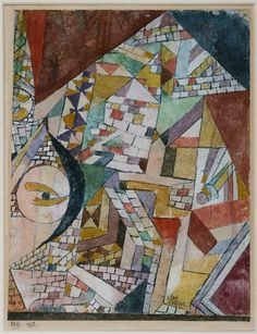 Paul Klee, Newly Built Pyramid with the Eye of the Moon, 1919  Harvard Art Museums/Busch-Reisinger Museum, Bequest of Joy C. and Marion J. Levy, Jr., 2015.71