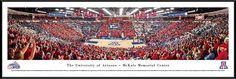 Arizona Wildcats Panoramic - McKale Memorial Center Picture - Basketball
