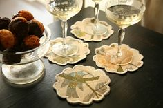 Chronicle Craft Project: Floral Cocktail Coasters for a Thanksgiving Hostess Gift