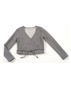 girls wrap top--burdastyle pattern. Perfect for ballet class.