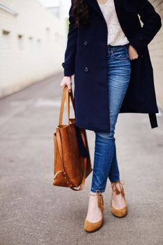 New Darlings - Classic French Girl Style with Sezane and Liketoknow.it - Nay Trench Front Button Jeans